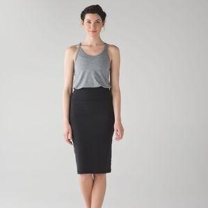 Lululemon Tube and From Black Long Skirt